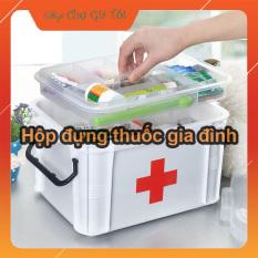 Hộp y tế ,hộp đựng thuốc gia đình đa năng (24x17x13cm)