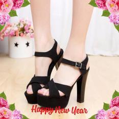 Giày cao gót đan chéo thời trang – LN123