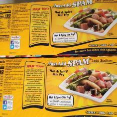 Thịt nguội Spam 25% less sodium Mỹ hàng bay air