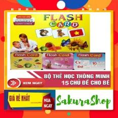 Bộ thẻ học thông minh cho bé 15 chủ đề 280 thẻ loại to song ngữ Việt-Anh về thế giới xung quanh,con vật,…Thẻ học thông minh cho bé