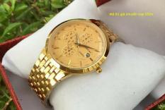 đồng hồ nam Baishuns dây vàng mặt vàng ,chống nước,chỗng xước