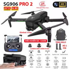 (NEW 2020) BỘ 2 PIN TẶNG KÈM BALO – Máy bay Flycam ZLRC SG906 Pro 2 camera 4k, gimbal chống rung 3 trục, Bay xa 1200m, Thời gian bay max 26 phút, Hai camera kép, Camera Wifi 5G – BẢO HÀNH 6 THÁNG