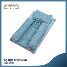[MÃ GIẢM 200K] Bộ Nệm Bé Sơ Sinh Khang Home BBS02046