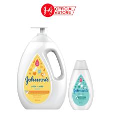 Sữa tắm Johnson's Baby cho bé chứa Sữa Và Yến Mạch 1000ml tặng Sữa tắm sữa và gạo 200ml