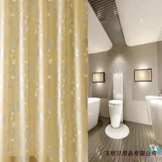 Rèm phòng tắm chống nước 1.8m có kèm móc treo hoa lá vàng