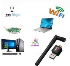 USB Thu Wifi cho Laptop ,Usb thu sóng wifi cho máy tính PC 802 Có cần hổ trợ 150mps có đĩa driver kèm theo