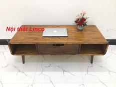 BCF- Bàn sofa gỗ cao su có hộc kéo T919-7 KT120x50x41, bàn trà, bàn cafe, cà phê, coffee, bàn gỗ phòng khách