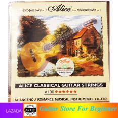 Bộ 6 dây đàn guitar classic Alice A106 dây nilon dành cho đàn ghitar cổ điển Duy Guitar Store – Phụ kiện đàn guitar giá tốt dành cho người mới tập