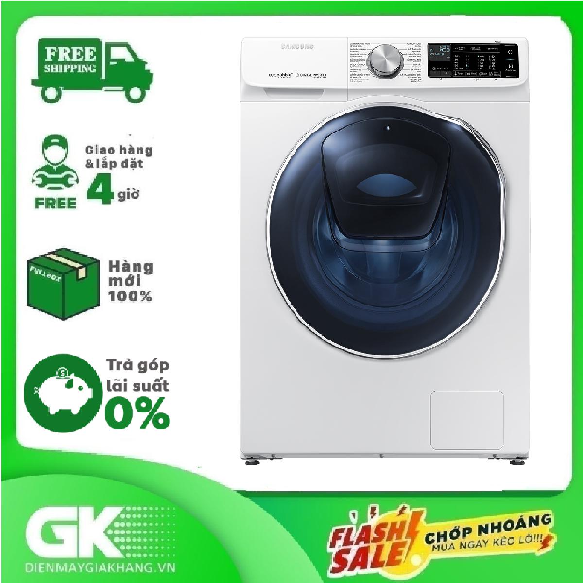 Máy giặt sấy Samsung AddWash Inverter 10.5 kg WD10N64FR2W/SV Mới 2020