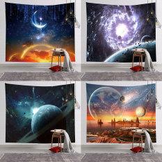 [Tặng Đèn Led và Móc Treo] Tấm Thảm Treo Tường mẫu Vụ Trụ, Vải Treo Tuờng Trang Trí Decor Nhà Cửa