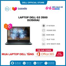 Tặng OFFICE 365 BẢN QUYỀN   Trả góp 0%  FREESHIP   Laptop Dell Gaming G3 3500 (G3500A ) Core i7 10750H / 15.6inch-120Hz FullHD / Ram 8GB(Còn 1 slot) / 512GB SSD Card Màn Hình NVIDIA GTX1650Ti 4G GDDR6 / Win 10 Bản Quyền / Bàn Phím Có Đèn/ Black