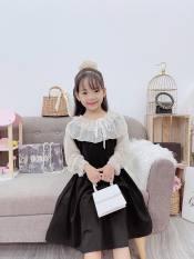 Váy Đầm Xoè Tay Voan Xinh Xắn Cho Bé Gái Size Đại 20-33kg