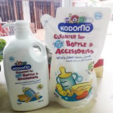 Combo 1 chai + 1 túi Nước rửa bình sữa Kodomo Thái Lan
