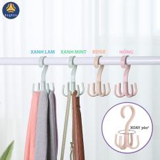 Móc thông minh treo cà vạt, móc xoay 360 độ treo khăn choàng, dậy nịt, túi xách tiết kiệm không gian tủ đồ – BBPK100 – buybox