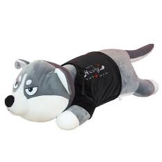 Gấu bông gối ôm chó husky, chó alaska mặc áo len quà tặng bạn gái size 70cm – 1m , gối ôm sói mặc áo, gấu bông size to