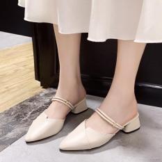 giày cao gót 2p mũi nhọn 2 quai ngang siêu xinhhh kèm clip thật có thể đi được 2 kiểu