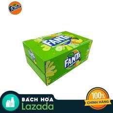 Thùng 24 Lon Nước ngọt Fanta Soda kem 330ml