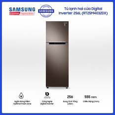 Tủ lạnh hai cửa Samsung 256L với công nghệ Digital Inverter tiết kiệm điện năng – RT25M4032DX