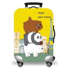 [Lấy mã giảm thêm 30%]Túi bọc bảo vệ vali -Áo vỏ bọc vali – Size S-3 CHÚ GẤU-HPValiOEM