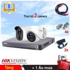 Trọn bộ 2 camera Hikvision DS-2CE11H0T-PIRL (5MP) + DS-2CE71H0T-PIRL (5MP) + đầu ghi 4 kênh DS-7204HUHI-K1