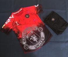 Bộ quần áo bóng đá Mu đỏ galaxy chế cực đẹp