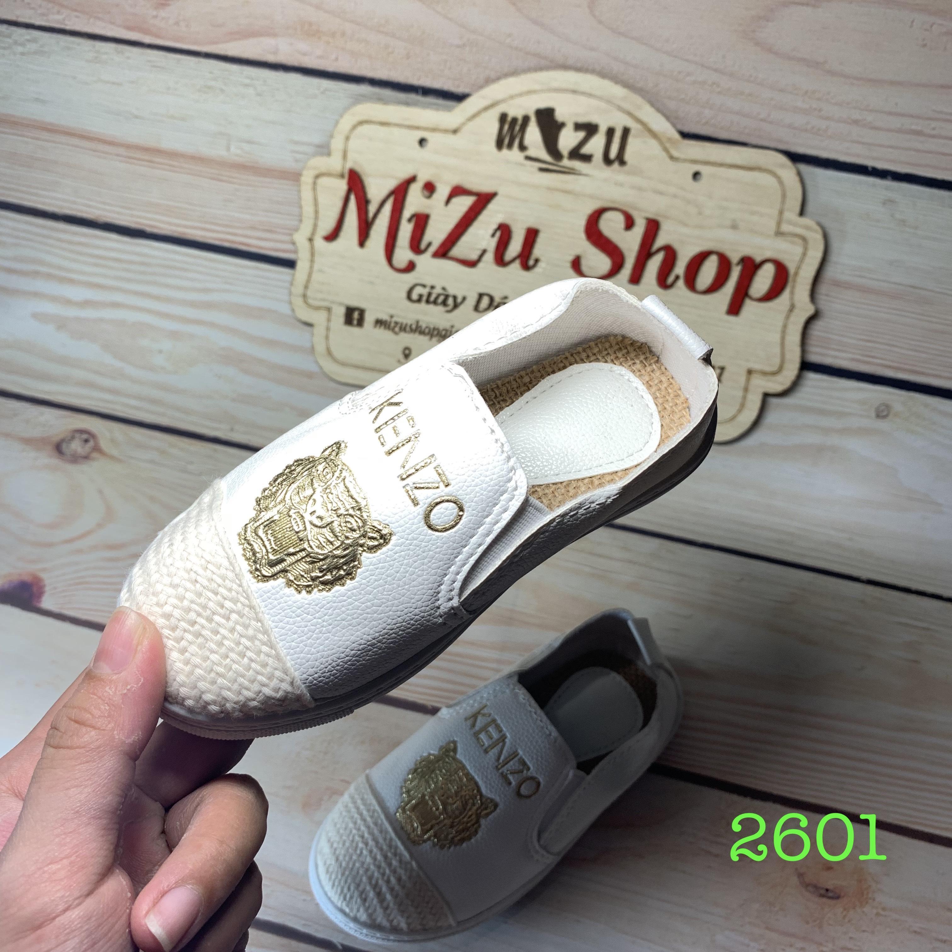 (Ảnh thật) Size 27 đến 36 Giày lười trẻ em da mềm mũi vải mã 2601