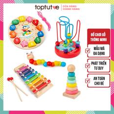 Đồ chơi gỗ thông minh cho bé phát triển tư duy toptutoe đồ chơi montessori an toàn cho bé