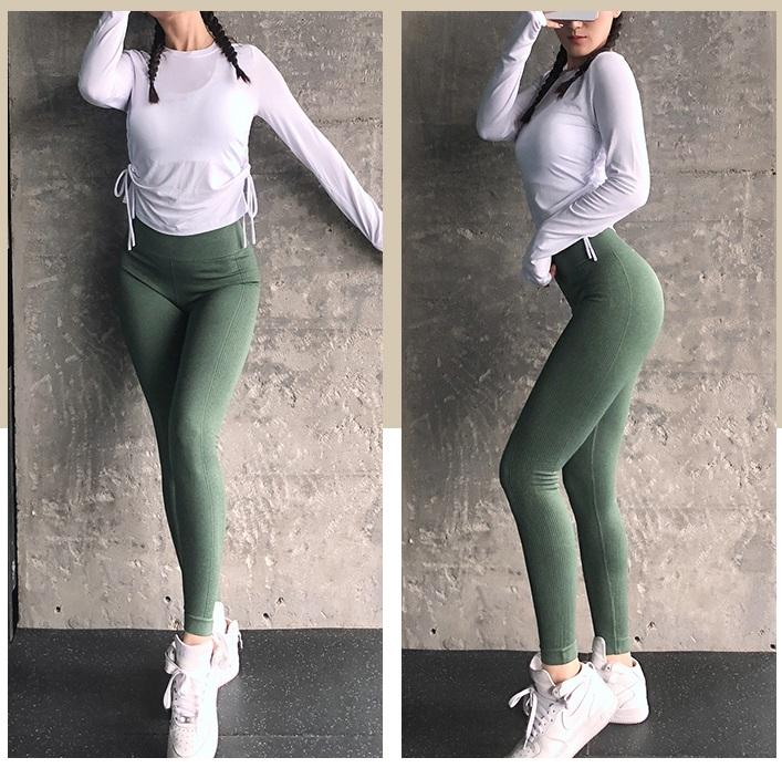Quần tập gym yoga lưng cao nâng mông cao cấp siêu co giãn hàng nhập khẩu