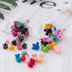 Hộp 40 kẹp càng cua mini nhiều màu xinh xắn dễ thương phong cách Hàn Quốc cho bé yêu D31