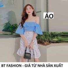 Áo Kiểu Voan Trễ Vai Thời Trang Hot BT Fashion (Bèo, Nhúng Lưng) + Video, Hình Thật – Mua thêm Váy bên dưới để phối đồ
