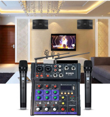 [THANH LÝ GIẢM 50% ] Combo Bàn Trộn Âm Thanh Kiêm Lọc Âm Mixer Yamaha G4 Tặng Kèm 2 micro Hỗ Trợ Màn Hình LED-Kết Nối Âm Ly-Loa Kéo-Thu âm livestream Tích Hợp Chỉnh Vang Karaoke Xe Hơi Có Bluetooth-Dàn Hát Karaoke Gia Đình Chuyên Nghiệp
