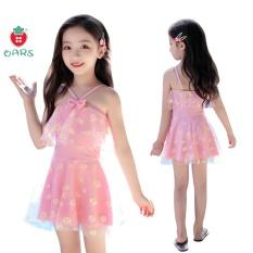 Bộ đồ bơi liền thân cho bé gái Đồ bơi trẻ em thời trang 1 mảnh váy công chúa hoa cúc dễ thương kèm quần đùi từ 2 3 4 5 6