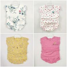 Bộ thun mát hotga bé gái đồ bộ sơ sinh mặc hè co dãn thấm hút mồ hôi (6-16kg)