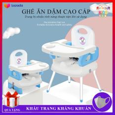 Ghế ăn dặm cho bé thiết kế an toàn, tiện dụng, hiện đại, đa năng. Mặt bàn có các hốc riêng biệt, tiện lợi ( có 2 loại có chân sắt và không chân sắt )