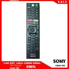 Remote điều Khiển tivi SONY CHÍNH HÃNG RMF-TF300P tìm kiếm giọng nói tiếng Việt màu đen bảo hành hãng phím tắt Netflix dùng cho tivi Sony android