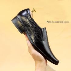 Giày Tây Nam Da Bò Lịch Lãm Sang Trọng Vân Cá Sấu