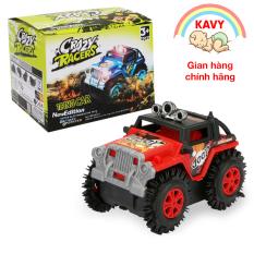 Đồ chơi trẻ em xe Jeep chạy bằng pin chất liệu nhựa không độc hại, chạy nhanh và khỏe (màu đỏ) – KAVY