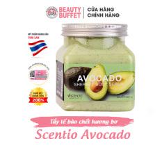 Tẩy tế bào chết toàn thân dưỡng ẩm và sáng mịn da chiết xuất quả bơ Scentio Avocado 350ml