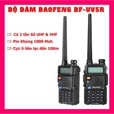 Bộ đàm Baofeng BF-UV5RE / BF-UV5R Công Suất 8W có 2 tần số UHF&VHF Dung lượng Pin lên đến 4500 mah Cực li liên lạc lên đên 10 KM