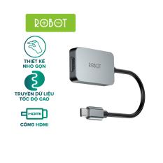 Bộ Chuyển đổi USB-C Sang Cổng HDMI ROBOT HT100 Kết nối Laptop USB-C với Máy Chiếu Độ Phân Giải 4K l HÀNG CHÍNH HÃNG