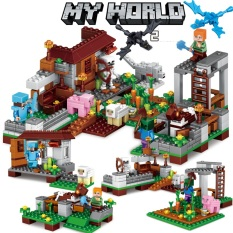 Lego giá rẻ, Lego Minecaft My World 💖 Minecaft Trang trại [Tặng rồng Ender trị giá 25k]