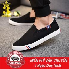 [Mẫu HOT⚡]Giày Slip-On Vải Cotton Mềm Mịn Có Size Nam Và Nữ 3Fashion Shop – 2633
