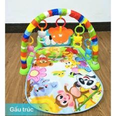 Thảm Vườn Thú nằm vui nhộn cho bé chơi có nhạc piano thích hợp cho bé từ 0-18 tháng tuổi , hình ảnh màu sắc bắt mắt, thu hút trẻ nhỏ, đàn piano có đèn và nhạc