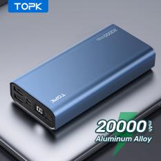 Sạc Dự Phòng Vỏ Kim Loại TOPK I2006 20000 MAh Sạc Dự Phòng Chính Hãng Cho Xiaomi Samsuang Samsung HUAWEI Oppo iPhone