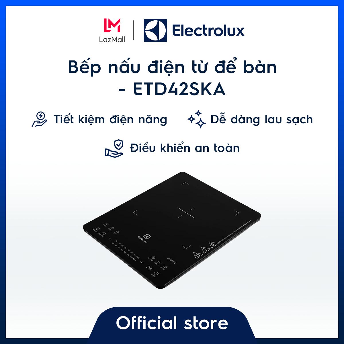 [Miễn phí giao hàng HCM & HN] Bếp từ đơn để bàn Electrolux ETD42SKA – Nhỏ gọn – Hàng chính hãng