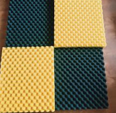 set 4 Tấm mút tiêu âm hình trứng .màu đỏ vàng xanh đen-kt 50 x 50cm dày 3cm. Mã981929926