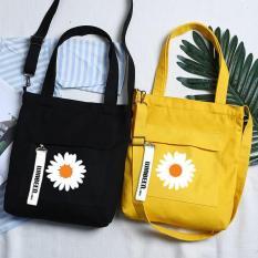 Túi Tote Hoa Cúc Daisy GD Peaceminusone Bigbang 2 Màu Vàng Đen Basic