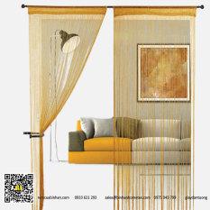 Rèm sợi chỉ trơn màu vàng gold 3m*3m Rèm sợi chỉ trang trí nhà hàng, shop, spa tiệc cưới