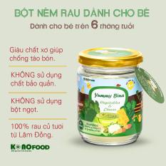 Bột nêm Rau & Phô mai dành cho bé ăn dặm KONOFOOD 100g – Được làm từ rau BINA, bổ sung Chất xơ cho bé từ 6 tháng tuổi.