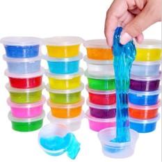 Đồ chơi slime nhiều màu, 1 lốc 12 cốc slam chất nhờn ma quái cho bé